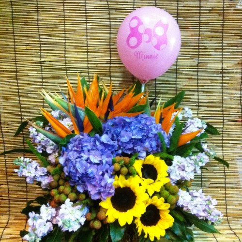 Flowers with Balloon $880
